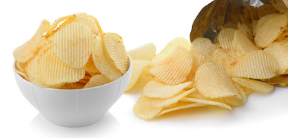 Potato chips as a quick snack