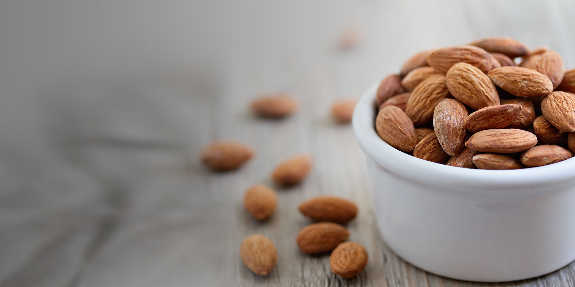 Bowl of healthy and delicious almonds